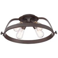 Quoizel UPTR1716WT Uptown Theater Row 4 Light 18 inch Western Bronze Semi-Flush Mount Ceiling Light