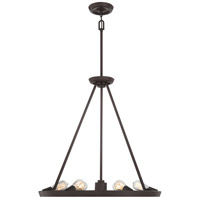 Quoizel UPTR5007WT Uptown Theater Row 7 Light 28 inch Western Bronze Chandelier Ceiling Light
