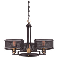 Quoizel UST5003WT Union Station 4 Light 28 inch Western Bronze Foyer Chandelier Ceiling Light