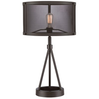 Quoizel UST6127WT Union Station 27 inch 100 watt Western Bronze Table Lamp Portable Light