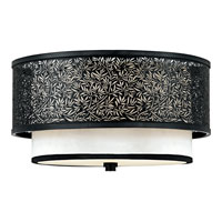 Quoizel Lighting Utopia 2 Light Flush Mount in Mystic Black UT1615K