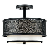 Quoizel Lighting Utopia 2 Light Semi-Flush Mount in Mystic Black UT1715K