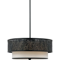 Quoizel Lighting Utopia 3 Light Pendant in Mystic Black UT2820K