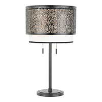 Quoizel Lighting Utopia 2 Light Table Lamp in Mystic Black UT6126K
