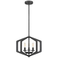 Quoizel VAN2816OK Vanguard 3 Light 16 inch Old Black Pendant Ceiling Light