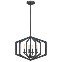 Quoizel VAN2820OK Vanguard 4 Light 20 inch Old Black Pendant Ceiling Light