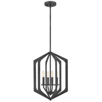 Quoizel VAN5215OK Vanguard 4 Light 15 inch Old Black Foyer Pendant Ceiling Light