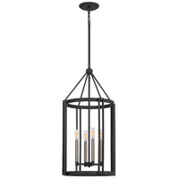 Quoizel VC5204MB Victor 4 Light 17 inch Mottled Black Foyer Chandelier Ceiling Light