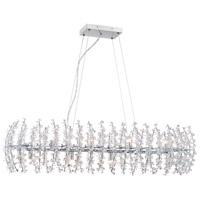 Valla 8 Light 39 inch Polished Chrome Island Chandelier Ceiling Light