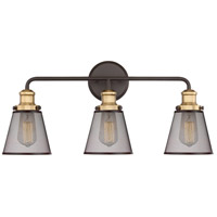 Quoizel VLT8603WT Vault 3 Light 24 inch Western Bronze Bath Light Wall Light