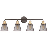 Quoizel VLT8604WT Vault 4 Light 33 inch Western Bronze Bath Light Wall Light