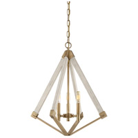 View Point 3 Light 19 inch Weathered Brass Foyer Chandelier Ceiling Light