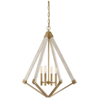 Quoizel VP5204WS View Point 4 Light 24 inch Weathered Brass Foyer Chandelier Ceiling Light