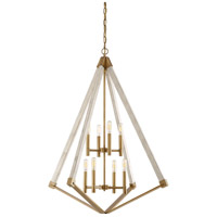 View Point 8 Light 30 inch Weathered Brass Foyer Chandelier Ceiling Light