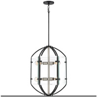 Vessel 6 Light 20 inch Earth Black Foyer Chandelier Ceiling Light