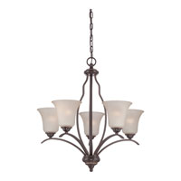 Quoizel Ventura 5 Light Chandelier in Palladian Bronze VTA5005PN