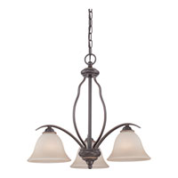 Quoizel Lighting Ventura 3 Light Chandelier in Palladian Bronze VTA5103PN