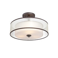 Quoizel Lighting Votive 3 Light Semi-Flush Mount in Western Bronze VTE1716WT