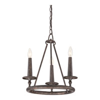 Quoizel Lighting Voyager 3 Light Chandelier in Malaga VYR5003ML
