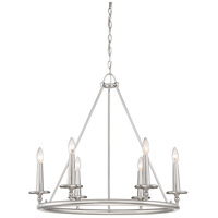 Voyager 6 Light 28 inch Brushed Nickel Chandelier Ceiling Light