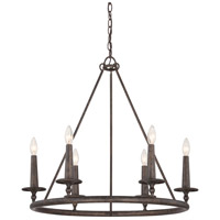 Quoizel VYR5006ML Voyager 6 Light 28 inch Malaga Chandelier Ceiling Light
