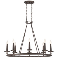 Voyager 8 Light 36 inch Malaga Chandelier Ceiling Light