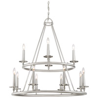 Voyager 12 Light 36 inch Brushed Nickel Chandelier Ceiling Light