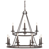 Voyager 12 Light 36 inch Malaga Foyer Chandelier Ceiling Light