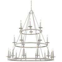 Voyager 24 Light 48 inch Brushed Nickel Chandelier Ceiling Light