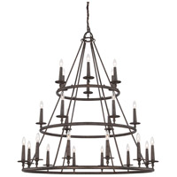 Voyager 24 Light 48 inch Malaga Foyer Chandelier Ceiling Light