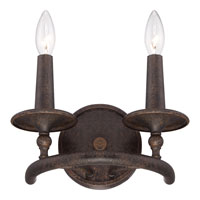Quoizel Lighting Voyager 2 Light Wall Sconce in Malaga VYR8702ML