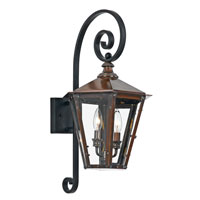 Quoizel Wickliffe Outdoor Wall Mount 2 Light in Aged Copper WC8413AC photo thumbnail