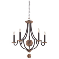 Wyndmoor 5 Light 28 inch Western Bronze Chandelier Ceiling Light