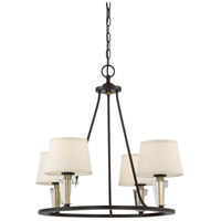 Quoizel WDN5004WT Warden 4 Light 27 inch Western Bronze Chandelier Ceiling Light