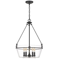 Quoizel WEL2818GK Wells 5 Light 19 inch Grey Ash Pendant Ceiling Light