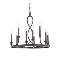Quoizel Lighting Whitfield 9 Light Chandelier in Dark Cherry WF5009DC photo thumbnail
