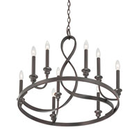 Quoizel Lighting Whitfield 9 Light Chandelier in Dark Cherry WF5009DC alternative photo thumbnail