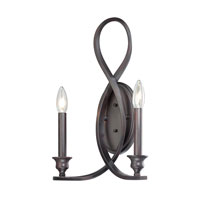 Quoizel Lighting Whitfield 2 Light Wall Sconce in Dark Cherry WF8702DC alternative photo thumbnail