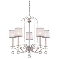 Whitney 5 Light 28 inch Imperial Silver Chandelier Ceiling Light