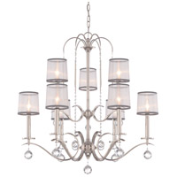 Whitney 9 Light 32 inch Imperial Silver Foyer Chandelier Ceiling Light