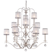 Whitney 12 Light 39 inch Imperial Silver Foyer Chandelier Ceiling Light