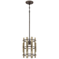 Quoizel WHL1509RK Wood Hollow 1 Light 9 inch Rustic Black Mini Pendant Ceiling Light