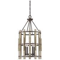Quoizel WHL5204RK Wood Hollow 4 Light 15 inch Rustic Black Foyer Chandelier Ceiling Light