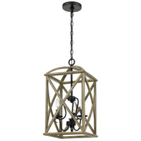 Quoizel WHN5203DW Woodhaven 3 Light 13 inch Distressed Weathered Oak Foyer Piece Ceiling Light Extra Large