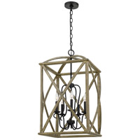 Quoizel WHN5205DW Woodhaven 5 Light 20 inch Distressed Weathered Oak Foyer Piece Ceiling Light Extra Large