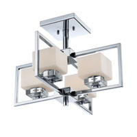 Quoizel Lighting Wain 4 Light Semi-Flush Mount in Polished Chrome WIN1718C