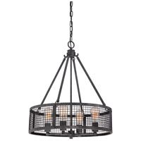 Quoizel Wilder 4 Light Pendant in Mottled Black WLR2820MB