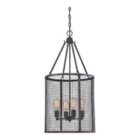 Quoizel Wilder 4 Light Foyer Chandelier in Mottled Black WLR5204MB