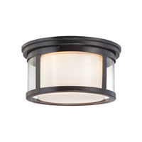 Wilson 2 Light 13 inch Palladian Bronze Flush Mount Ceiling Light