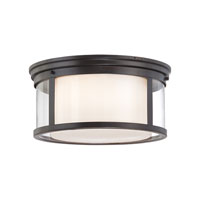 Quoizel Lighting Wilson 3 Light Flush Mount in Palladian Bronze WLS1615PN